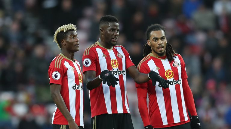 Papy Djilobodji [C] and Didier Ndong [L] have been missing from Sunderland training
