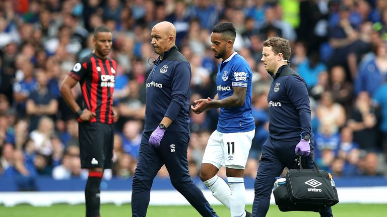 Theo Walcott was forced off through injury on a frustrating day for the hosts