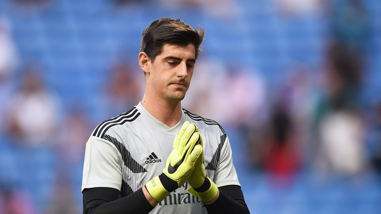 Courtois was criticised by some fans after Real's 3-0 loss at Eibar last weekend