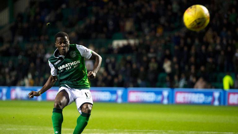 Hibernian's Thomas Agyepong missed the decisive penalty as Aberdeen progress