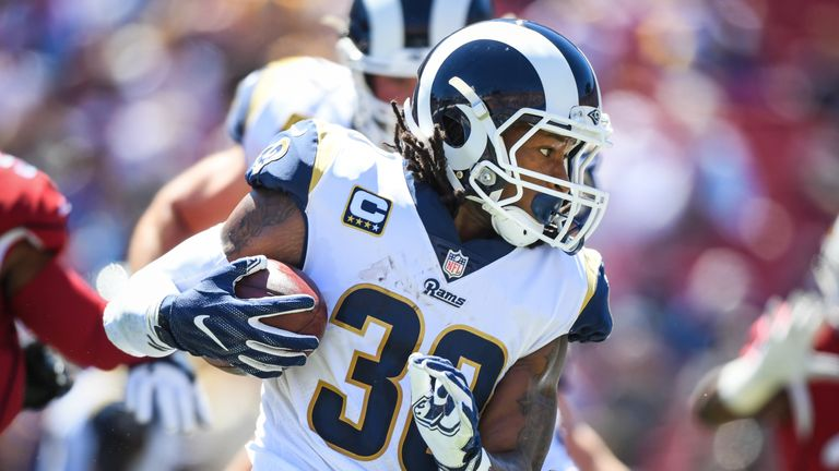 Todd Gurley has three rushing touchdowns and two two-point conversions for  the Rams in 6898bb358
