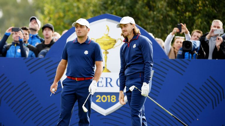 Tommy Fleetwood and Francesco Molinari prevented a whitewash for Europe