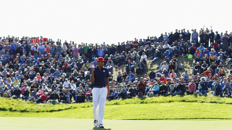 Tony Finau chipped in with two points for the Americans