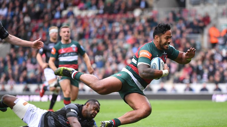 Manu Tuilagi was among the try scorers as Leicester put Newcastle to the sword at Welford road