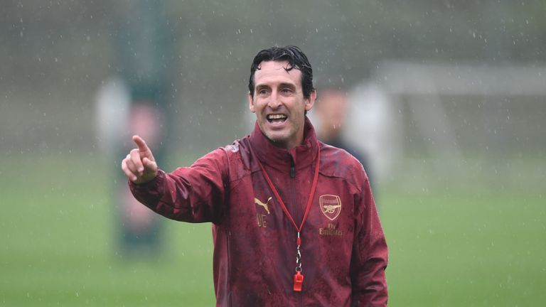 Emery is pleased with the progress Arsenal are making under his command