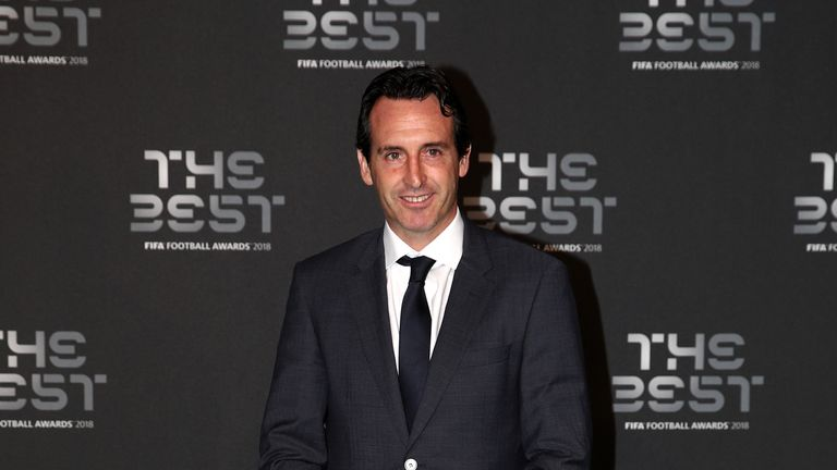 Arsenal manager Unai Emery arrives on the Green Carpet ahead of The Best FIFA Football Awards at Royal Festival Hall on September 24, 2018 in London, England.