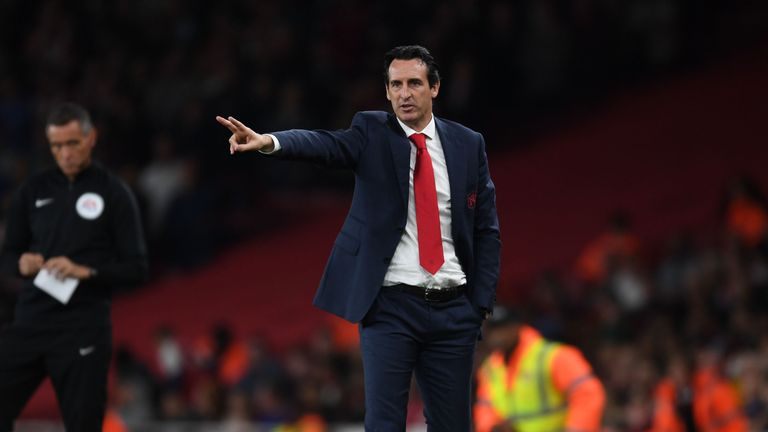 Unai Emery took over as head coach at Arsenal in the summer