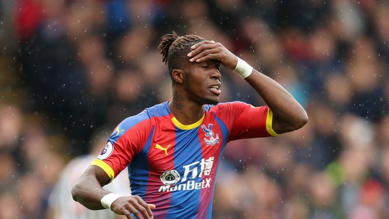 Benitez urged the FA to deal with comments on referees made by Wilfried Zaha