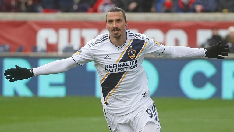 Zlatan Ibrahimovic nets for LA Galaxy