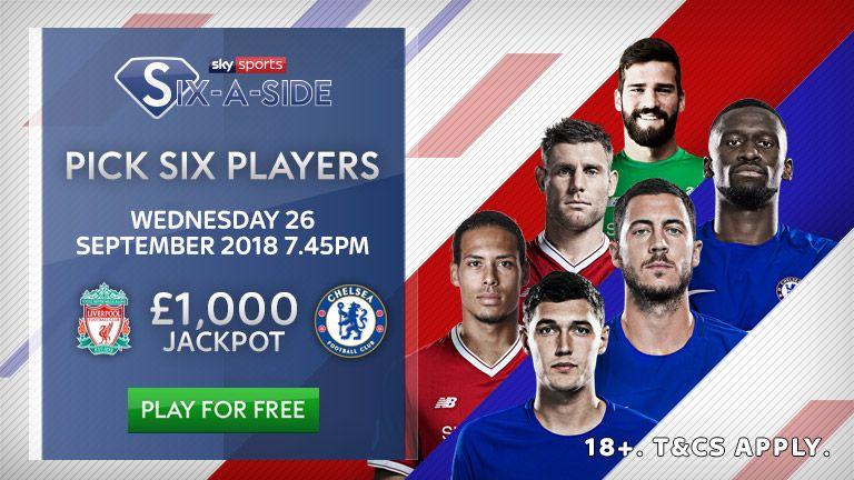 Play Sky Sports Six-a-Side to win the £1k jackpot.