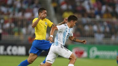 fifa live scores -                               Danilo injured in Brazil match