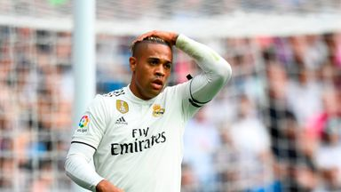 Mariano reacts during Real Madrid's La Liga defeat to Levante