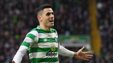 Celtic's Tom Rogic celebrates opening the scoring
