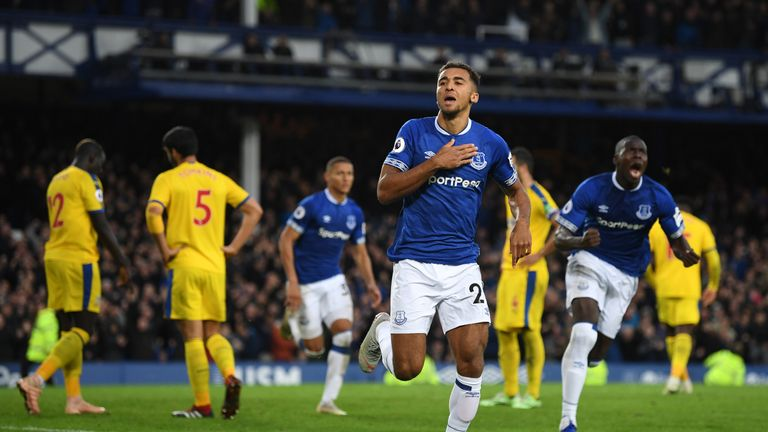 Calvert-Lewin is hoping to make Everton's centre-forward spot his own