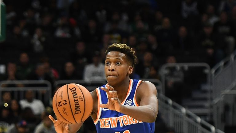 Frank Ntilikina was the Knicks' first-round pick in the 2018 Draft