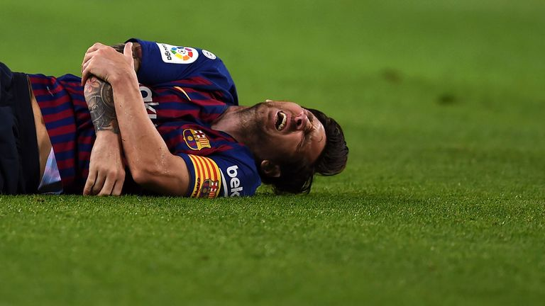 Barcelona's Lionel Messi Suffers A Fracture To His Arm