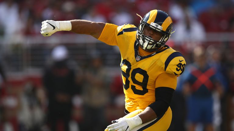 Aaron Donald has been a destructive force on the Rams' defensive front