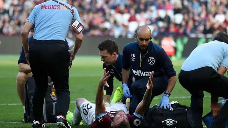 West Ham are waiting to find out the full extent of Andriy Yarmolenko's ankle injury