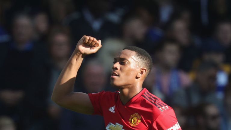 Martial scored twice to earn United a draw against Chelsea last  month