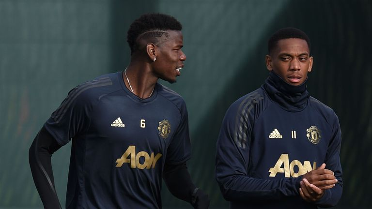 Anthony Martial, right, has been in fine form for United in the last two games