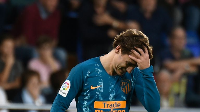 Atletico Madrid were held 1-1 by struggling Villarreal