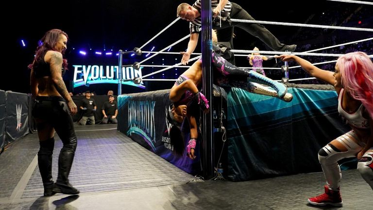 Bayley put her body on the line for her team against the Riott Squad