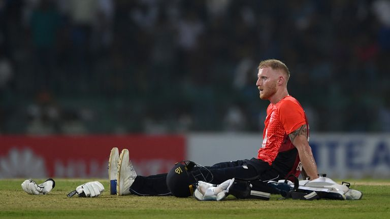 Ben Stokes hobbled to a score of 67 in the final ODI