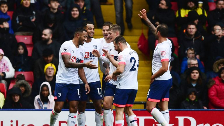 Bournemouth celebrate against Watford