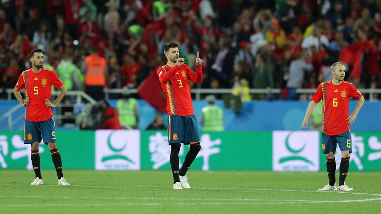Gerard Pique (pictured) and Andres Iniesta have both retired from international duty since the World Cup