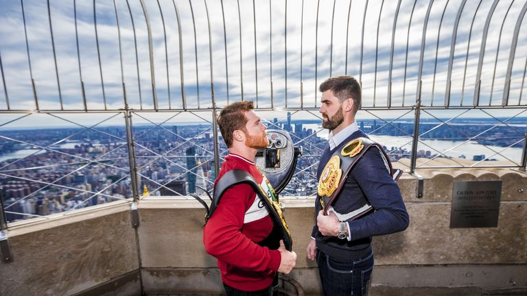 'Canelo' Alvarez and Rocky Fielding meet in New York on December 15