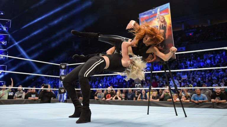 Charlotte Flair attacked Becky Lynch as the hatred between the two reaches boiling point
