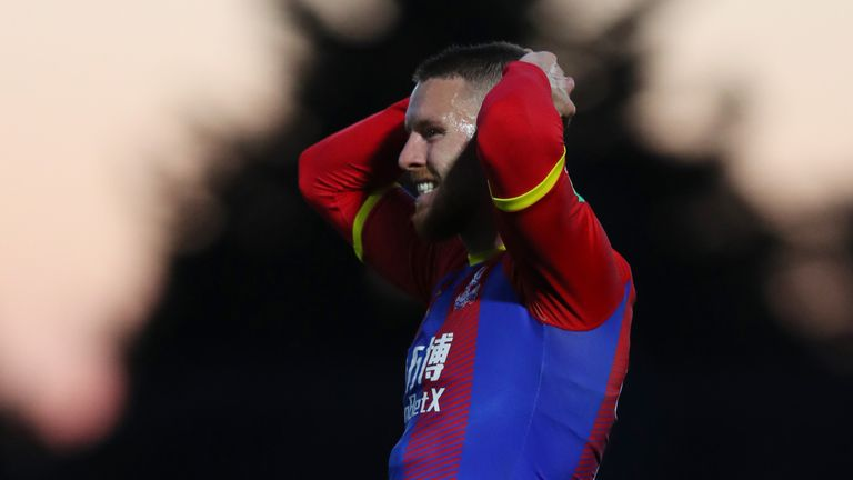 Connor Wickham will miss Crystal Palace's trip to Stamford Bridge