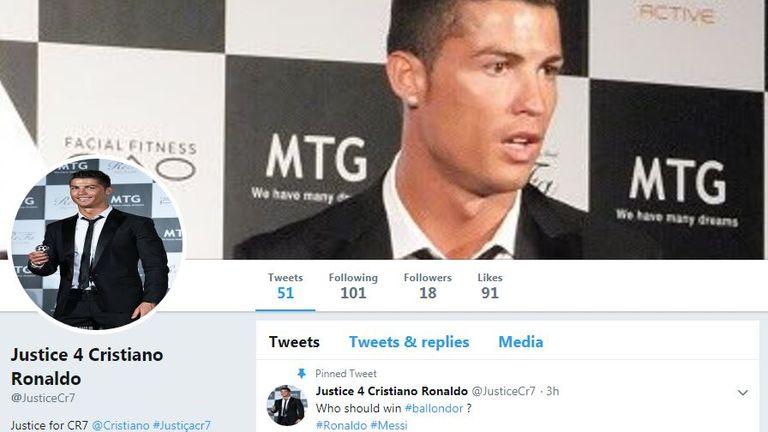 Cristiano Ronaldo's family have set up a 'Justice 4 Cristiano Ronaldo' campaign