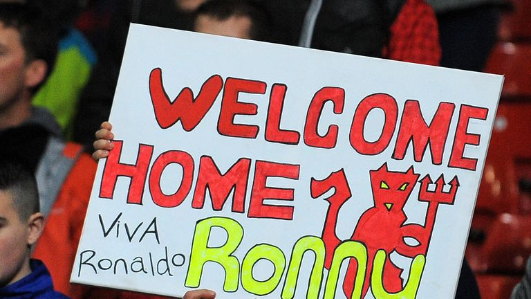 Manchester United fans welcomed Ronaldo back warmly
