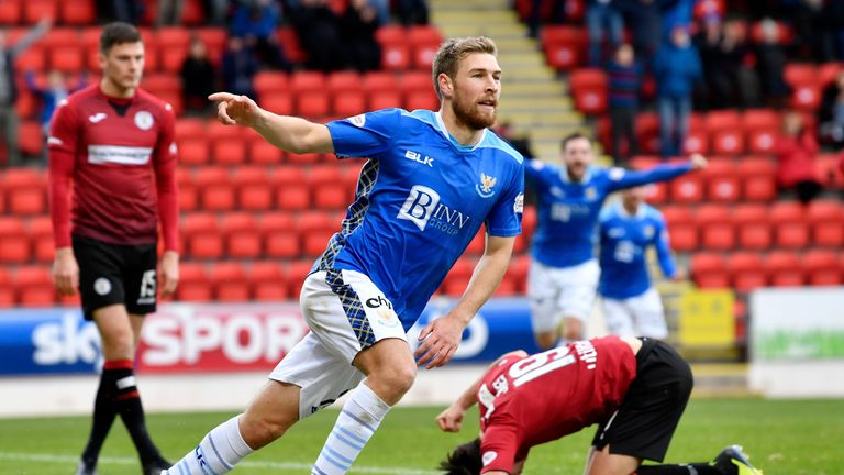 David Wotherspoon scored in St Johnstone's victory against St Mirren last weekend