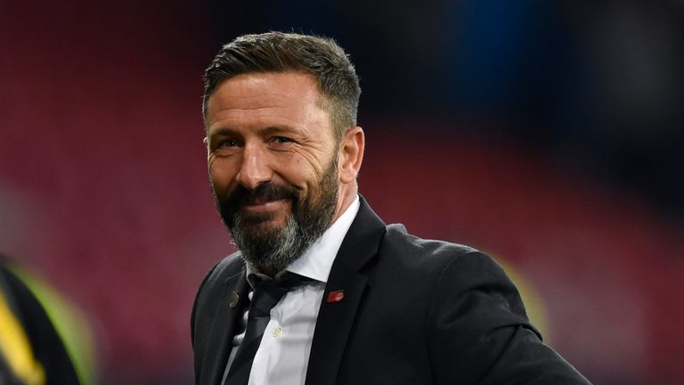 Aberdeen boss Derek McInnes led his team to victory