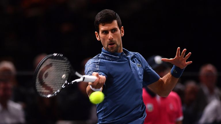 Novak Djokovic is aiming for his sixth ATP Finals title