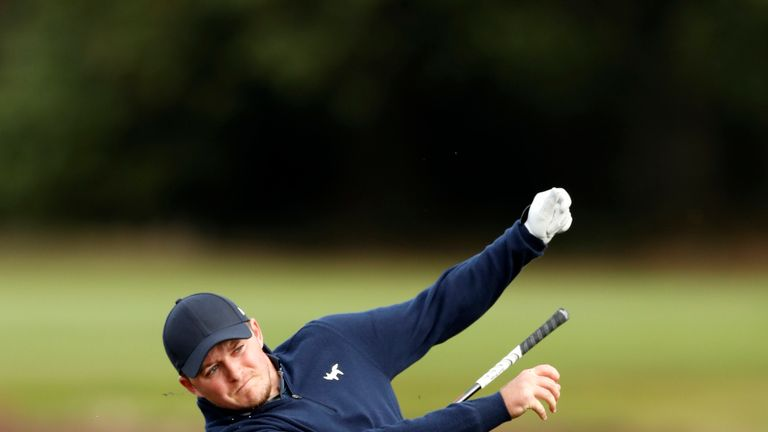 Eddie Pepperell mixed five birdies with two bogeys during his second round
