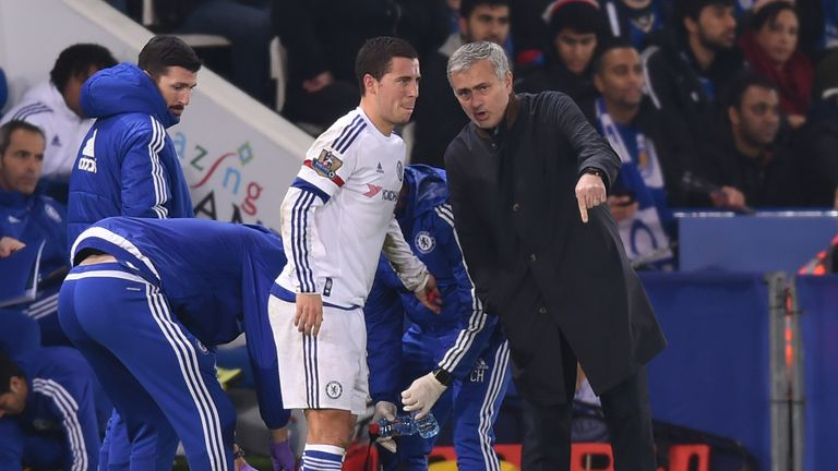 Hazard won the Premier League title with Jose Mourinho