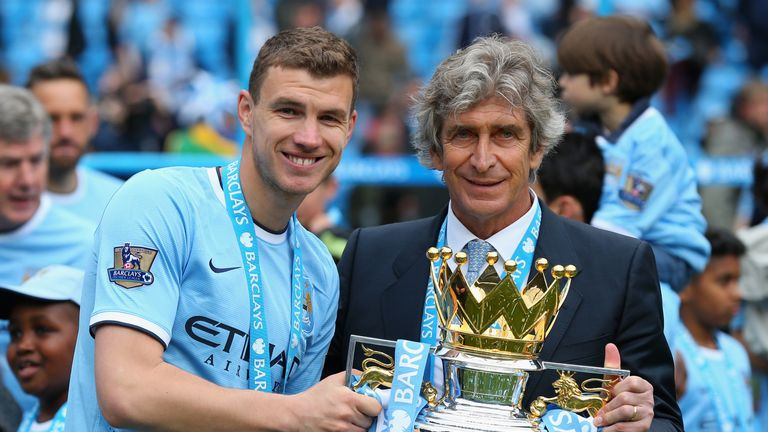 Dzeko could be reunited with former Manchester City manager Manuel Pellegrini at West Ham