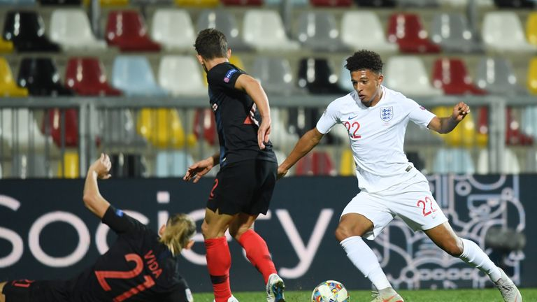 Jadon Sancho offers England a threat on the break