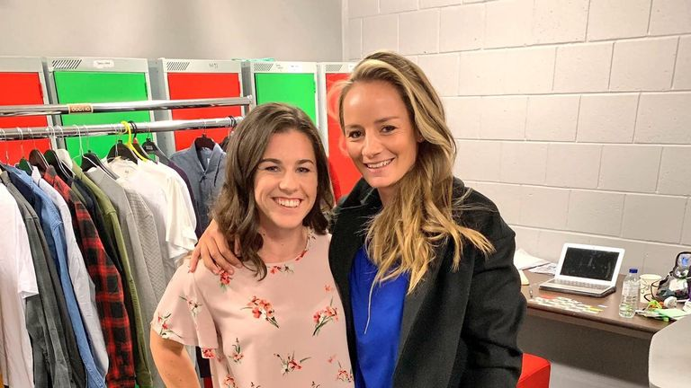 Danni and England team-mate Tammy Beaumont have both been filming A Question of Sport