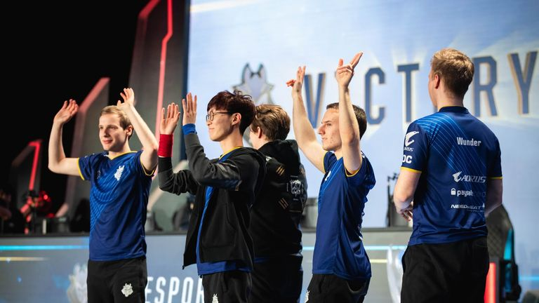 G2 Esports face favourites Royal Never Give Up in the quarter-finals on Saturday (credit: Riot)