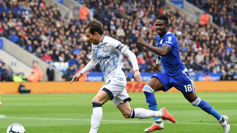 Bernard provided an assist on his first Everton start at the King Power stadium
