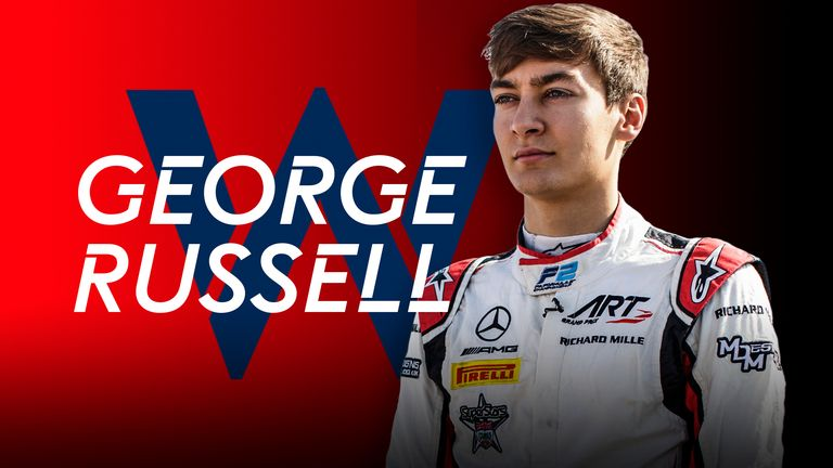 Britain's George Russell signs for Williams F1 team