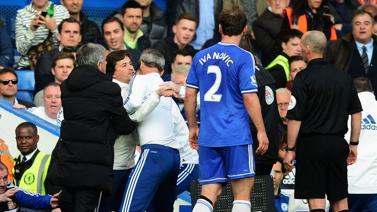Faria was sent to the stands during Chelsea's defeat by Sunderland in April 2014