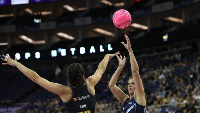 South African shooter Maryka Holtzhausen is back in blue for Severn Stars after re-signing with the franchise for her second season