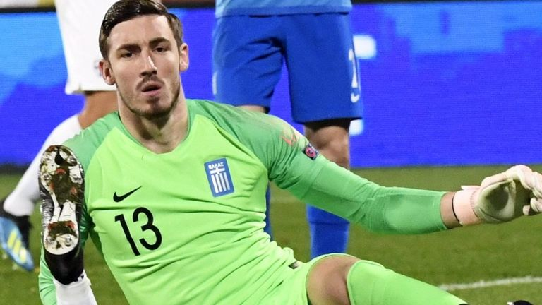 New Celtic goalkeeper Vasilis Barkas has been capped 10 times by Greece