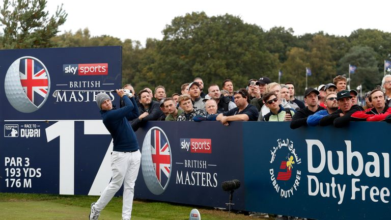 Matthew Fitzpatrick won the Sky Sports British Masters in 2015 at Woburn
