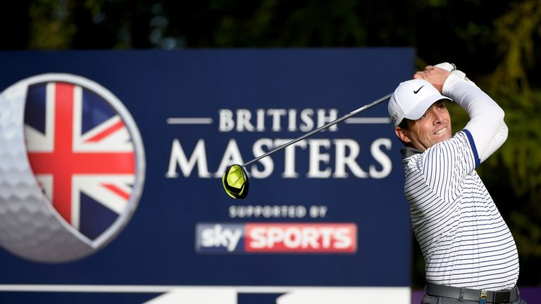 Fleetwood shares British Masters lead despite freak dropped shot